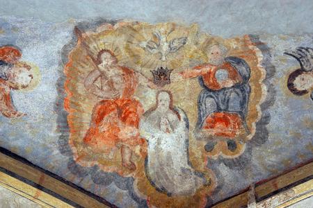 coronation: Coronation of Virgin Mary Stock Photo