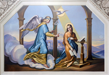 mary and jesus: The Annunciation