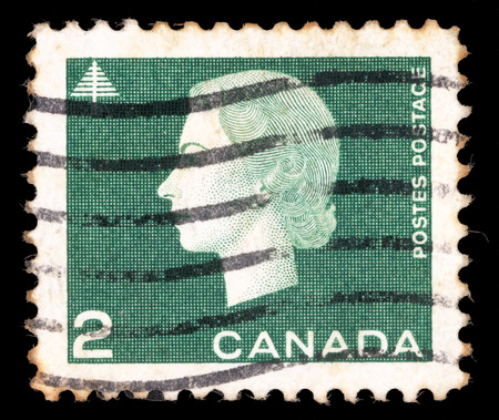 canada stamp: Stamp printed by Canada, shows Queen Elizabeth II, circa 1962