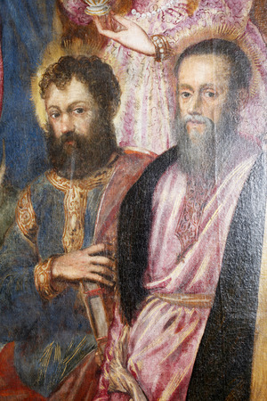 Jacopo Tintoretto: Saint Paul and Saint Andrew exhibited at the Great Masters renesnse in Croatia, opened December 12, 2011. in Zagreb, Croatia