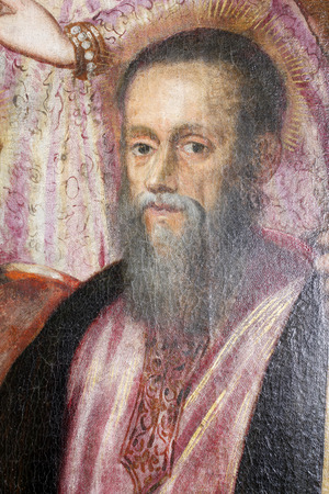 Jacopo Tintoretto: Saint Andrew exhibited at the Great Masters renesnse in Croatia, opened December 12, 2011. in Zagreb, Croatia