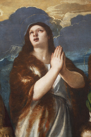 Tiziano Vecellio: St. Mary Magdalene, exhibited at the Great Masters renesnse in Croatia, opened December 12, 2011. in Zagreb, Croatia