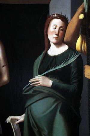 Alvise Vivarini: Saint Catherine of Alexandria, exhibited at the Great Masters renesnse in Croatia, opened December 12, 2011. in Zagreb, Croatia