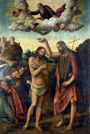 Bartolomeo Coda: Baptism of Christ, exhibited at the Great Masters renesnse in Croatia, opened December 12, 2011. in Zagreb, Croatia