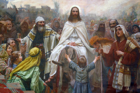 Jesus triumphal entry into Jerusalem