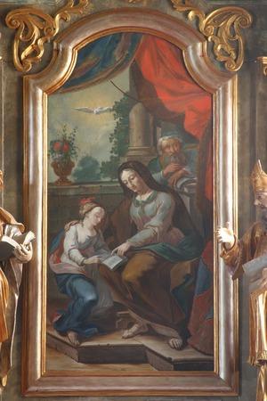 bible altar: Saint Ann