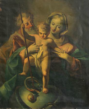 vierge marie: Sainte Famille avec Jésus bébé Éditoriale