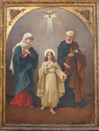 saint mary: Holy Family