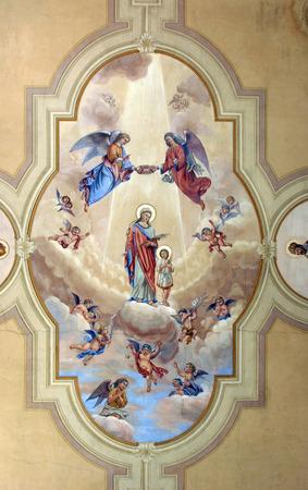 vierge marie: Vierge Marie avec l'enfant J�sus  �ditoriale
