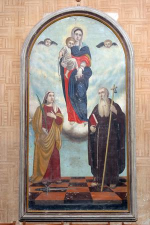 Virgin Mary, Saint Fosca and Saint Anthony the Great