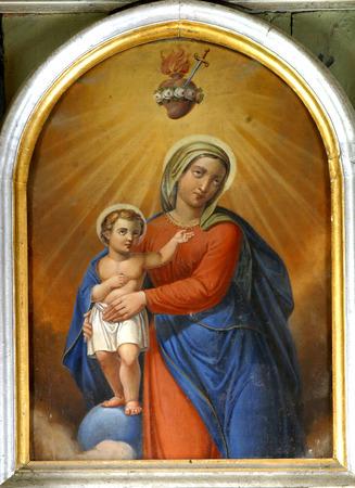 virgen maria: Bienaventurada Virgen María con el niño Jesús Editorial