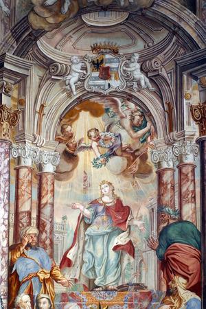 Saint Catherine of Alexandria, St. Catherine church Zagreb, Croatia