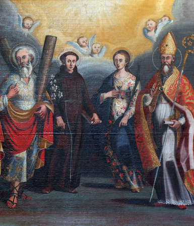 andrew: Saint Andrew, Anthony, Lucia and Nicholas