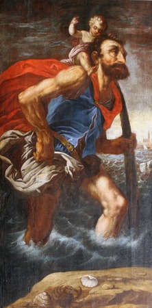 christopher: Saint Christopher Stock Photo