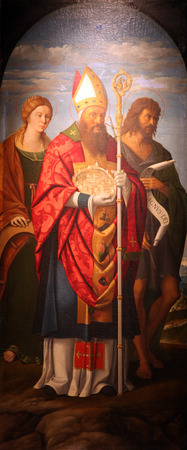 St. Catherine of Alexandria, St Quirinus, and John the Baptist photo