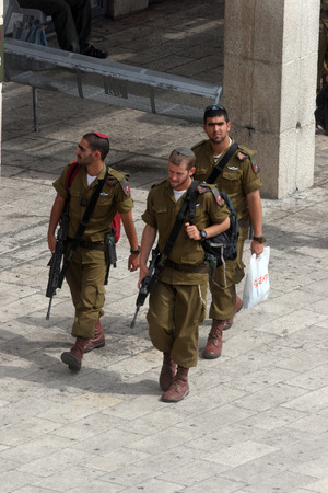 deployed: Members of the Israeli Border Police in the Old City October 03, 2006 in Jerusalem, Israel. They are deployed for law enforcement in the West Bank and Jerusalem.
