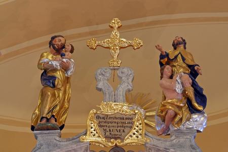 sainthood: Saints on altar