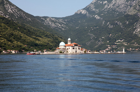 our lady: Church of Our Lady of the Rocks, Perast, Montenegro Stock Photo