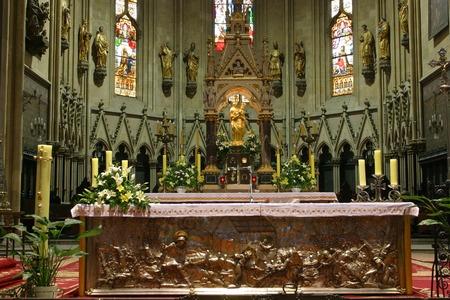 love dome: Altar in Zagreb cathedral Editorial