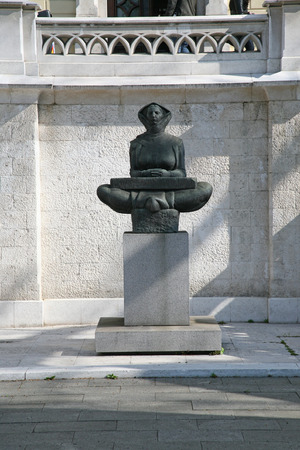 ubiquitous: History of the Croats sculpture of a woman, Zagreb, Croatia Editorial