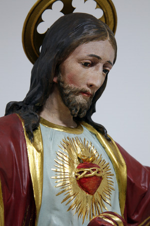 homily: Sacred Heart of Jesus Stock Photo