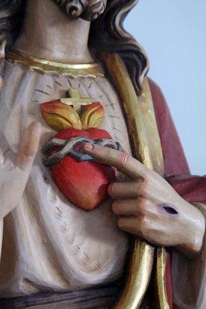 Sacred Heart of Jesus Stock Photo
