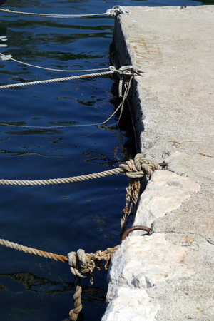 knotting: Rope of boat knotting