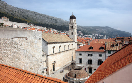 franciscan: Dubrovnik, Franciscan Monastery and Big Onofrio fountain Stock Photo