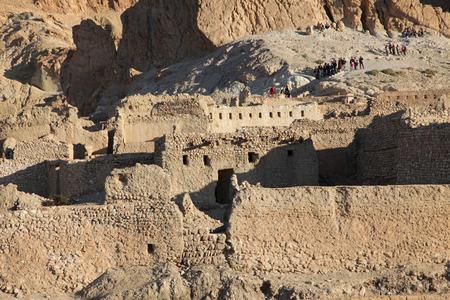 mountain oasis: Ruins of mountain oasis Chebika at border of Sahara, Tunisia