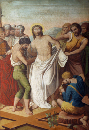 dolorosa: 10th Stations of the Cross, Jesus is stripped of His garments Editorial