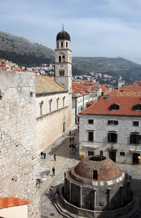 franciscan: Dubrovnik, Franciscan Monastery and Big Onofrio fountain Editorial
