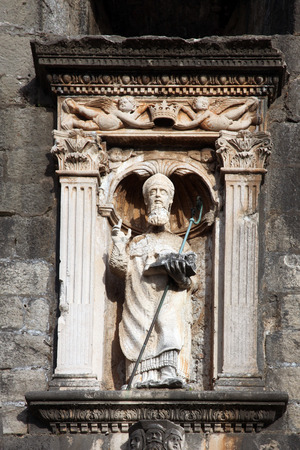 patron: St. Blaise patron of Dubrovnik Stock Photo