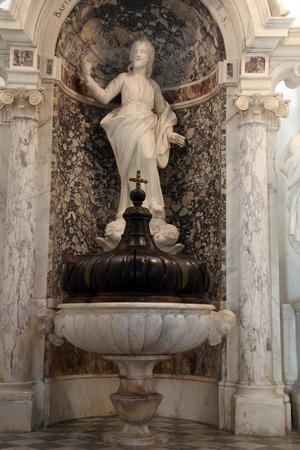 baptismal: Baptismal font in the Dubrovnik cathedral
