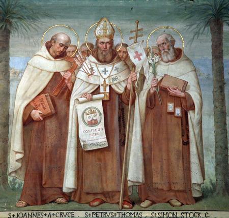 religiosity: Saint John of the Cross, Peter Thomas and Simon Stock, Carmelite Saints, The Church Stella Maris, Haifa, Israel