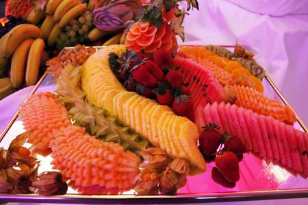 Delicious fresh fruit platter photo