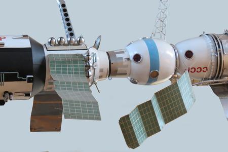 soyuz: Model of the Soviet orbital station, Spaceship Soyuz Editorial