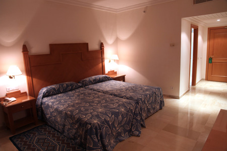 Interior of a modern luxury hotel room