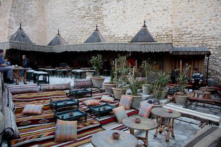 sidi bou said: Hammamet. Tunisia. Medina and \\\Sidi Bou Said\\\ cafe