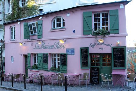 La Maison Rose restaurant on Montmartre in Paris on November 04, 2012. La Maison Rose is a must tourist attraction on Montmartre
