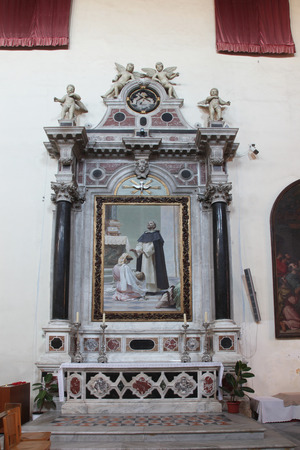 homily: Altar of St. Dominic Stock Photo