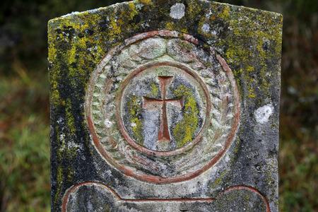 Stone cemetery cross