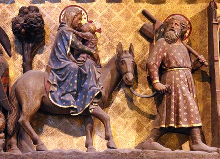 パリ、ノートルダム大聖堂、エジプトへの逃避