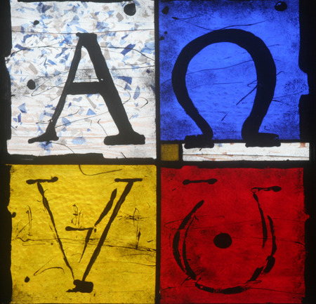 Alpha and Omega symbols photo