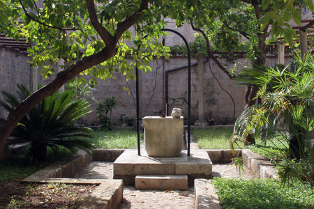Fountain in the atrium of the monastery