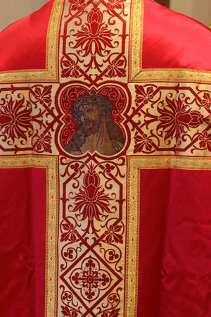 vestment: Golden embroidered Church vestments