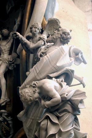 bible altar: Abraham Sacrificing Isaac