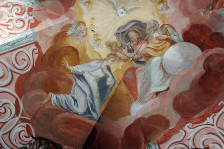 coronation: Coronation of Virgin Mary Editorial
