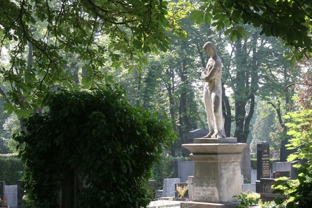 burried: Grave at Mirogoj cemetery, Zagreb, Croatia Editorial