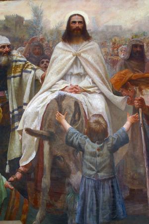 Jezus triomfantelijke intocht in Jeruzalem Redactioneel