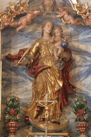 vierge marie: Bienheureuse Vierge Marie avec l'enfant J�sus �ditoriale